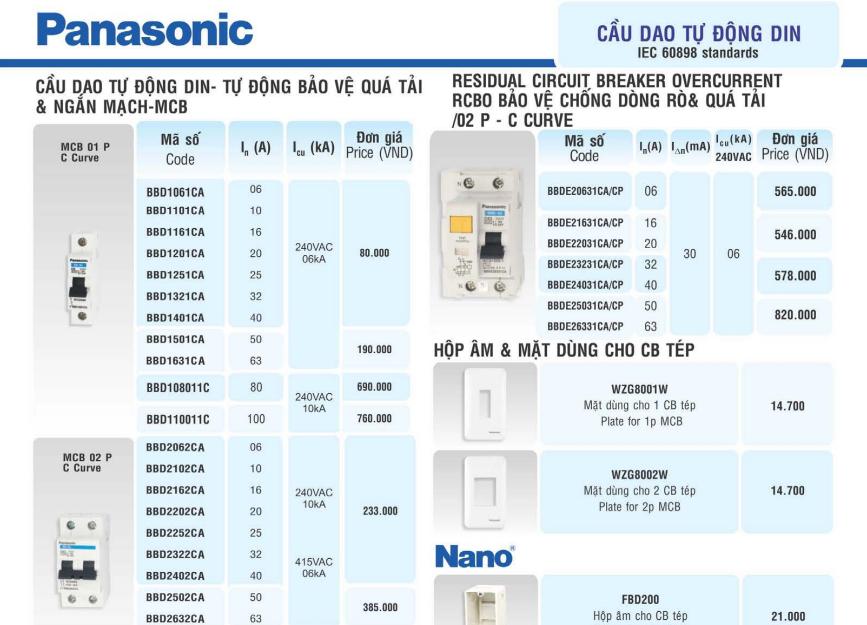 Attomat PANASONIC 01